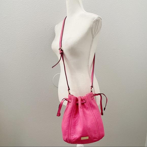 Kate Spade Pink drawstring bucket crossbody bag